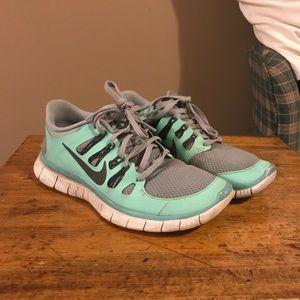 Nike Free Run Sneakers Turquoise